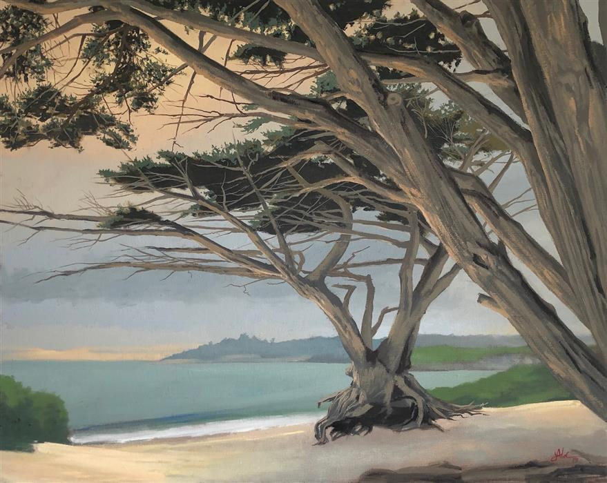 Discover Original Art by Jesse Aldana | Carmel oil painting | Art for Sale Online at UGallery