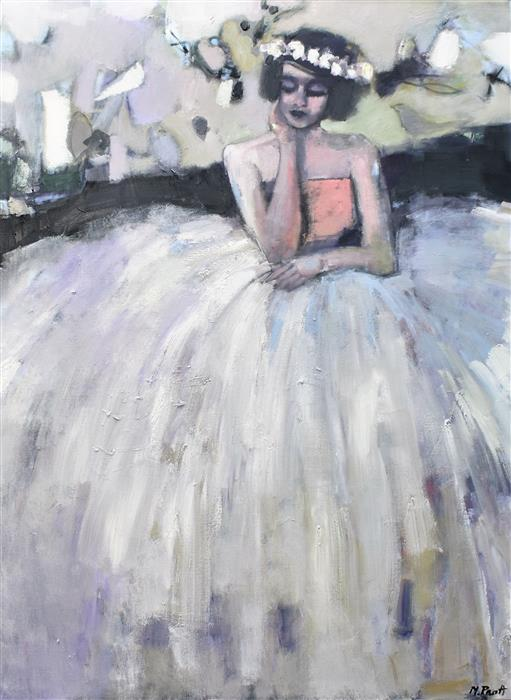 Discover Original Art by Mary Pratt | Seated Nonchalantly oil painting | Art for Sale Online at UGallery
