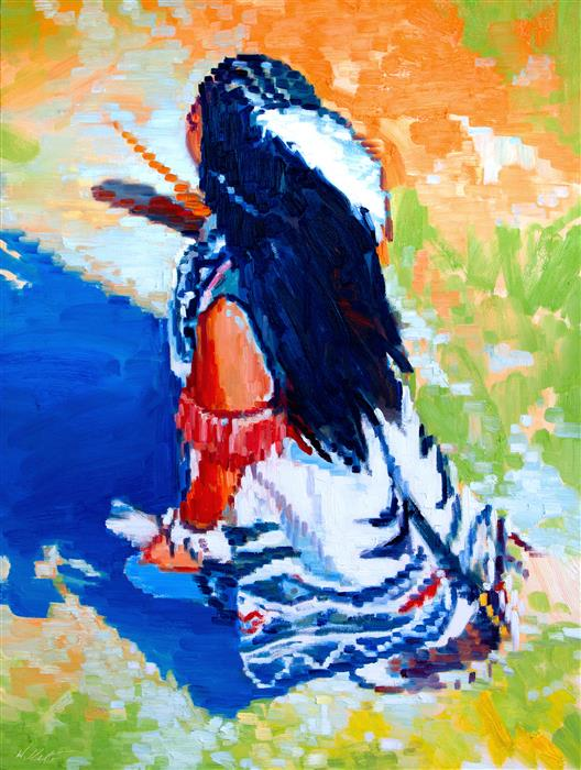 Discover Original Art by Warren Keating | Dancer oil painting | Art for Sale Online at UGallery
