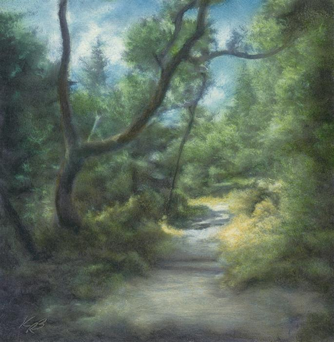 Discover Original Art by Kevin Brown | Path, Roy's Redwoods oil painting | Art for Sale Online at UGallery