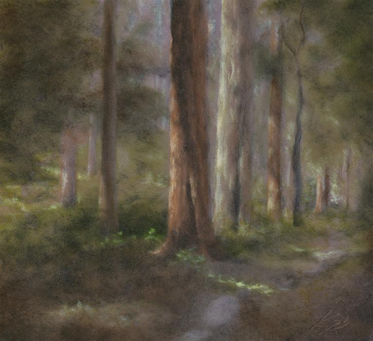 Discover Original Art by Kevin Brown | Redwood, Stern Grove oil painting | Art for Sale Online at UGallery