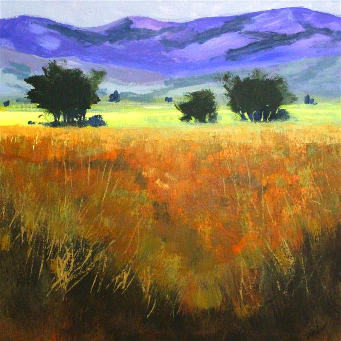 Discover Original Art by Nancy Merkle | Warm Valley acrylic painting | Art for Sale Online at UGallery